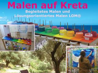 Lösungsorientierte Maltherapie LOM®-Woche an Kretas Südküste - mit Katina Kalpakidou