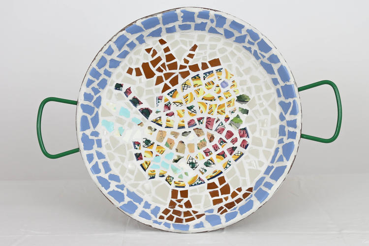Retreaturlaub fiestadelarte holiday art menorca workshop mosaik gaudi trencadis in barcelona mit sightseeingtour ueber allerheiligen