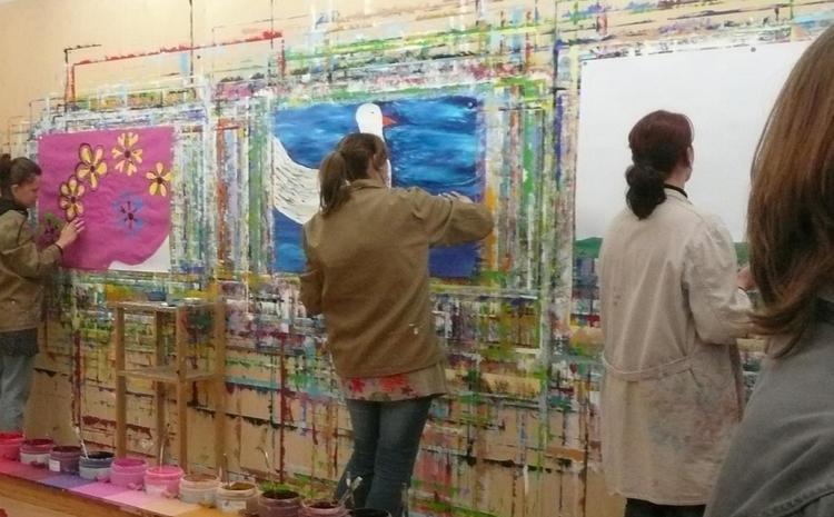 Malen Zwischen den Festen - Maltherapie / Begleitetes Malen mit Katina Kalpakidou