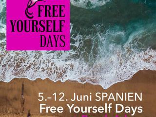 Freeyourselfdays + Beach Ad-on (8 Tage Spanien: Natur, Freiheit, Entspannung, Kreativität & Glück