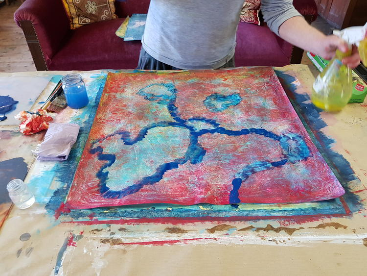Retreaturlaub soul painting atelier clara morgenthau 7 taegiges soul painting retreat juni 2020 meditation yoga und malen im erzgebirge