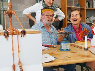 Wachsmodell für Bronzeguss - Kunstwoche in den Tessiner Bergen